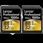 Lexar Professional 32GB 2000x Speed SDHC UHS-II